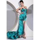 Sheath Taffeta Evening Dress/ Long Sweetheart Prom Dress