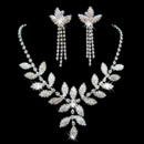 Crystal Earring Necklace Set Wedding Bridal Jewelry Collection