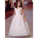 Adorable Princess Off-the-shoulder Lace-Up First Communion Dresses