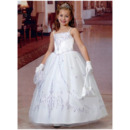 Adorable Ball Gown Spaghetti Straps First Communion Dress with Jacket