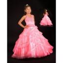 Affordable Stunning Halter Full Length Taffeta Flower Girl Dresses