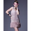 Chic Pleated Short Holiday Dresses/ 2015 Silk Sheath Homecoming Dresses