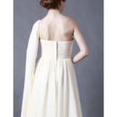 Discount Chiffon Empire Wedding Dresses/ Elegant One Shoulder Garden Bridal Gowns
