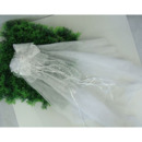 White Tulle Flower Girl Veils with Bows