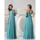 Inexpensive Sheath V-Neck Floor Length Chiffon Evening/ Prom Dresses
