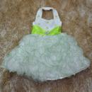 Ball Gown Halter Tea Length Ruffle Flower Girl Dresses