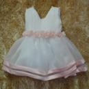 Ball Gown V-Neck Knee Length First Communion/ Flower Girl Dresses