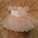 Ball Gown Knee Length Organza Easter Dresses/ Flower Girl Dresses