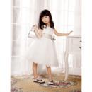 A-Line Knee Length Flower Girl/ First Communion Dresses