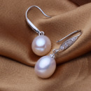 White 9 - 9.5mm Freshwater Drop Bridal Pearl Earring Set