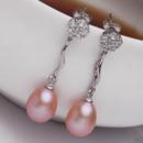 White/ Pink/ Purple 8.5 - 9.5mm Freshwater Drop Pearl Earring Set