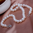 Classic White 9 - 10mm Freshwater Round Pearl Necklace