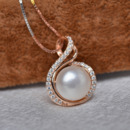 Inexpensive Golden Off-Round 9.5-10mm Freshwater Natural Pearl Pendants