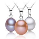 White/ Pink/ Purple Drop 8.5-9.5mm Freshwater Natural Pearl Pendants