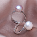 Discount Pink/ White/ Purple 9 - 11mm Freshwater Off-Round Pearl Ring