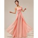 Custom Asymmetric Chiffon Floor Length Sheath Bridesmaid Dresses