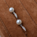 Inexpensive White 8.5-9mm Round Freshwater Natural Pearl Earring Set