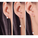 Fashionable White Round 7-8mm Freshwater Natural Pearl Earring Set