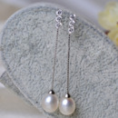 Inexpensive Pink/ White Round/ Drop Freshwater Natural Pearl Earring Set