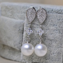 Discount White Round 9-11mm Freshwater Natural Pearl Earring Set