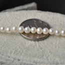 Inexpensive Classic White 3 - 4mm Freshwater Off-Round Pearl Necklaces