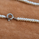 Gorgeous White 2mm Freshwater Off-Round Bridal Pearl Necklaces