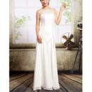 Affordable Sexy Chiffon Sheath Floor Length Wedding Dresses