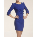 Long Sleeves Short Column Satin Mother of the Bride/ Groom Suits