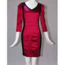 Long Sleeves Satin Short Sheath Mother of the Bride/ Groom Dresses