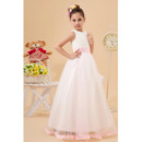 Discount Cute Ball Gown Satin Organza Beaded First Communion Dre