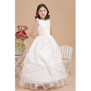 2014 Luxurious Ball Gown Pick-Up Ankle Length First Communion Dr