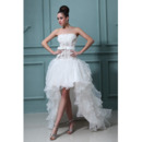 Discount Sexy High-Low Ruffle Strapless A-Line Organza Wedding D