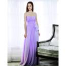Sexy Discount Designer Chiffon Floor Length Sweetheart Evening Dresses