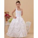 2018 Style Ball Gown Pick-Up Skirt Taffeta First Communion Dresses