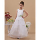 Discount A-Line Sleeveless Long First Communion Dresses with Belts