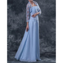 Custom Long Chiffon Mother of the Bride Dresses with Lace Jackets