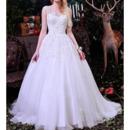 2018 New Style Ball Gown Chapel Train Satin Organza Wedding Dresses