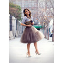 Women's Sexy Party A-Line Tulle Knee Length Skirts/ Wedding Petticoats