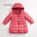 Inexpensive Girls Kids Winter Hooded Long Down Coat/ Jacket/ Snowsuit