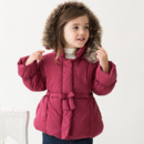 Discount Girls Kids Winter Hooded Long Cotton Padded Coats Outerwears