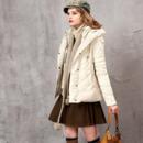 Women's Casual Winter Slim Solid Hooded Long Sleeves Down Coat Parka