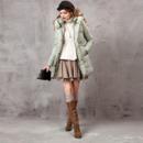 Designer Women's Fashion Winter Slim A-Line Long Down Coats Parkas