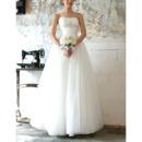 Vintage Ball Gown Strapless Floor Length Tulle Wedding Dresses