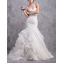 2018 New Sheath Sweetheart Court Train Asymmetric Wedding Dresses