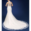 2018 New Style Sheath Halter Court Train Organza Wedding Dresses