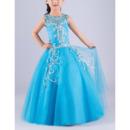 Stuning Ball Gown Sleeveless Floor Length Rhinestone Flower Girl Dress