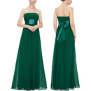 Discount Strapless Floor Length Chiffon Bridesmaid/ Wedding Party Dress