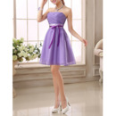 2018 New Strapless Mini Bridesmaid/ Wedding Party Dresses with Sashes