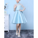 Adorable Short Easter/ Spring Girls Dresses with Long Lace Sleeves