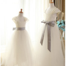 2018 New Satin Flower Girl/ First Communion Dresses with Sashes